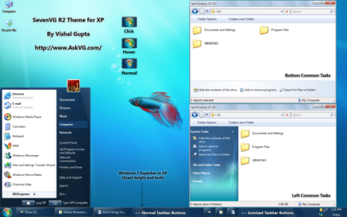 screenshot sevenvg-r2-theme-for-windows-xp-by-vishal-gupta