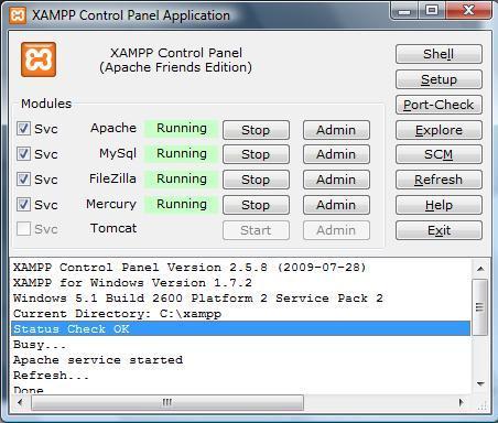 xampp control panel application
